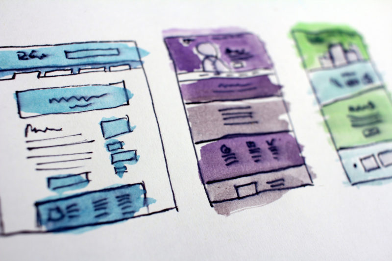 UX design drawn wireframes